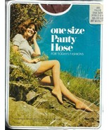 One Size Panty Hose for Today's Fashions Vintage Taupe fits 100 - 160 lb... - $14.99
