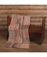 Beautiful True Patchwork Farmhouse Clement Quilted Throw 60 x 50 Winter ... - $67.95