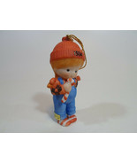 Country Cousins Figurines Enesco Vintage Porcelain Christmas ornament 1984 - $9.95