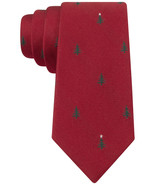 Tommy Hilfiger Evergreen Tree Slim Tie Red One Size - $17.81