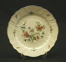"Bellevue by Hutschenreuther 7-3/4"" Salad Plate Floral Gold Rim Dresden Germany - $14.84"
