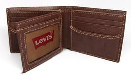 NEW LEVI'S MEN'S PREMIUM LEATHER CREDIT CARD ID WALLET BILLFOLD BROWN 31LV1344 image 7