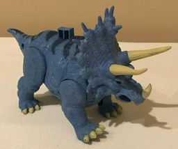 Imaginext Triceratops Dinosaur Dino Fisher Price Blue Makes Sound Roars - $11.99