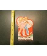 Valentine Vintage Card Lets You and I go Around Together - $5.99