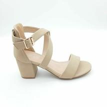 TOP MODA Womens Delia-6 Ankle Strap Sandal Block Heel Shoes Brown Buckle... - $23.15