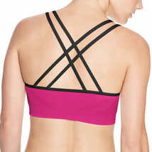 New Champion 2 Pack Criss Cross Seamless Sport Bras Pink/Black image 3