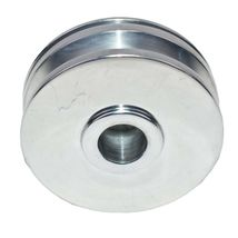 GM SBC SINGLE-GROOVE ALUMINUM ALTERNATOR PULLEY WITH NOSE CONE COVER 283 350 400 image 4