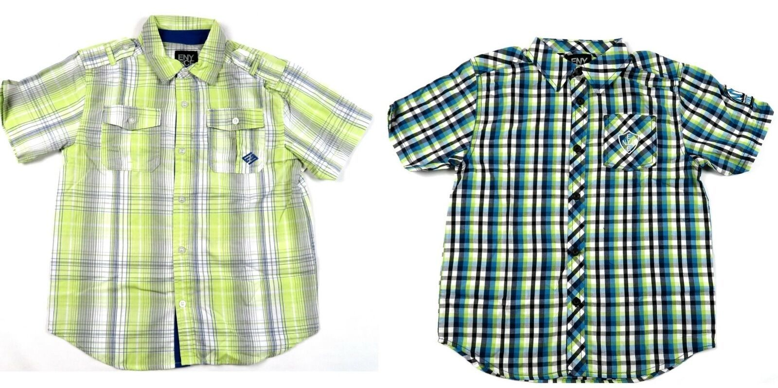Boy's 4-7x Shirt ENYCE Button Front Woven Short Sleeve Licensed NEW
