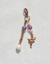 Copper Ballerina Pearl and Gemstone Fashion Charm - Purse Charm,  Anywhe... - $13.99