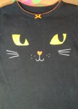 Girl's Long Sleeve Snug Fitting Black Kitty Face Shirt 12 MO - $6.99