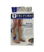 Truform Leg Health Medical Compression Stockings Men & Women Beige Med 2... - $12.86