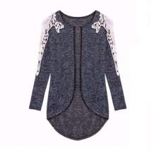 Irregular Patchwork Lace Women Thin Cardigan - $18.56