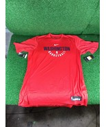 NBA Team Issued Washington Wizards Athletic Shirt, XXL Tall, Red, Short ... - $24.99