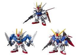 2 Bandai SD EX-Standard Gundam Assembly Models - Destiny, Aile Strike and 008 00 - $29.69