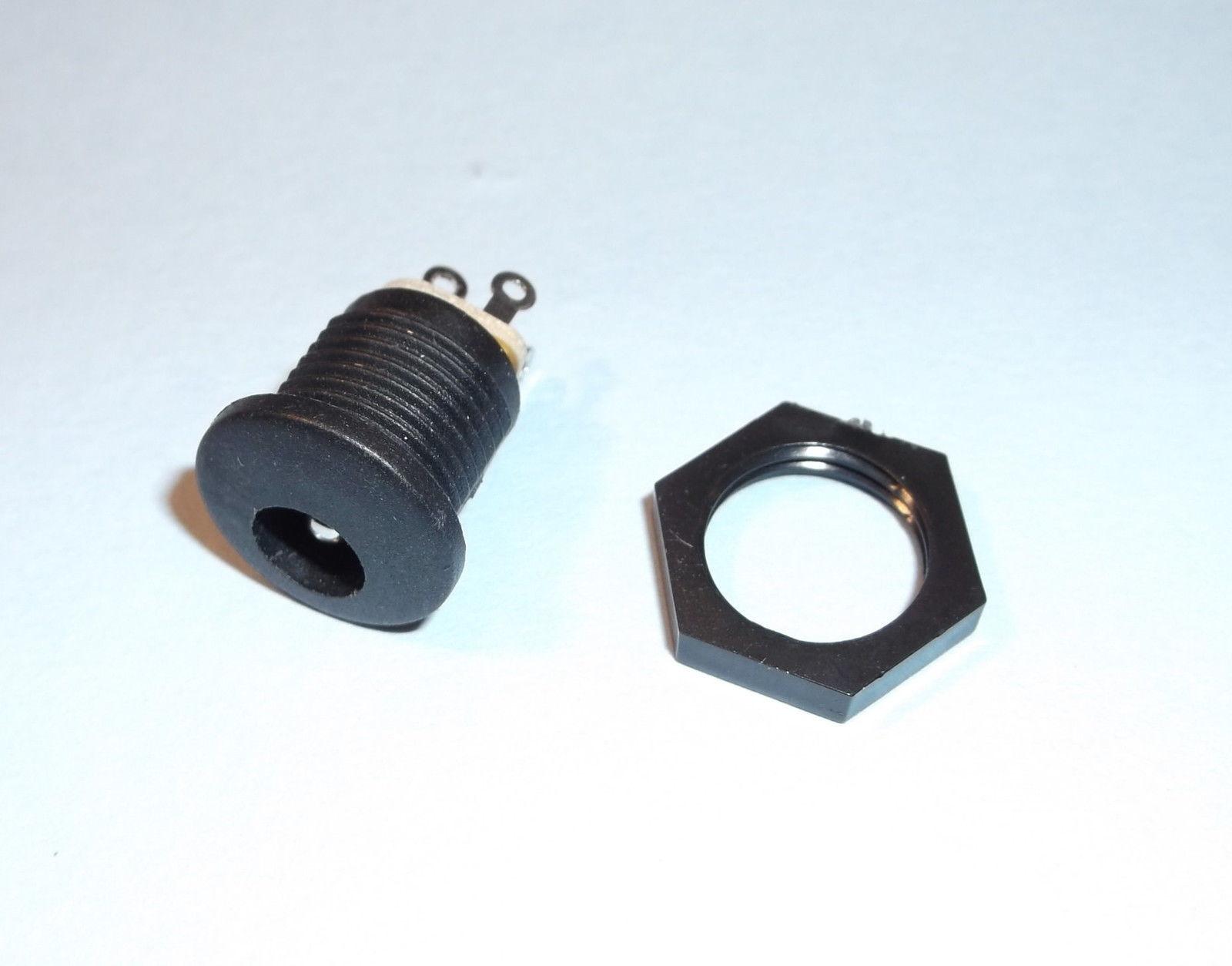 2.5mm x 5.5mm Klinkenstecker /& Buchse DC Connector Male  /&  Fem 9mm