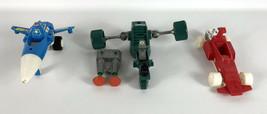 Lot 3 Micronauts Vehicles Blue Photon Sled Red Warp Racer Green Galactic... - $79.19