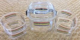 Vintage Cameleon Lucite Salad Bowl Set & Ice Bucket Modern Design by P. ... - $24.99