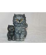 Goebel Germany Black Mama Cat & Baby Kitten Figurine Yellow Eyes - $58.50