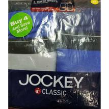 Jockey Men's 4 Pack Mid Thigh Boxer Briefs, 425, Medium - $35.64