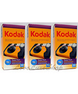 3 Kodak HD Power Flash Single Use Cameras 39 Ex... - $34.00