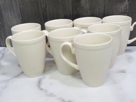 "Set of 8 Wedgwood Windsor Ribbed 4"" Cup Mug England - $59.40"