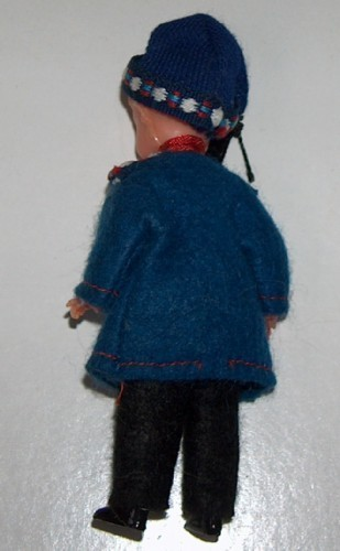 German Vintage Marburg Celluloid Plastic Souvenir Doll