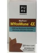 Pure Essence Labs My Pure MycoMune 4X, 2400 mg Mushr Nutr, 30 VegCaps EX... - $26.72