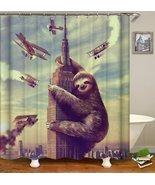 King Sloth Kong Shower Curtain - $19.33+