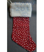 Handmade Red with white Hearts with Faux-Fur Holiday Christmas Stocking ... - $12.99