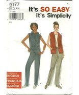 Simplicity Sewing Pattern 9177 Misses Womens Vest Pants Sz 8 10 12 14 16... - $9.98