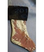 Handmade Desert Tan Camo Camoflauge Faux-Fur Holiday Christmas Stocking ... - $12.99