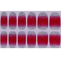 Set of 6 Stylish Bright Gradient Glittery Nail Art Stickers, Rose