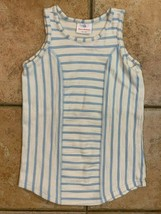 HANNA ANDERSSON BLUE WHITE STRIPED DRESS JUMPER TERRY CHENILLE 100 4T EUC - $22.39