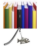 Bony Fish Pewter Emblem Pattern bookmark for books organisers codeUS159 - $13.08