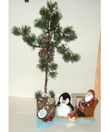 Table Top Christmas Tree w Electric Santa Firep... - $24.00