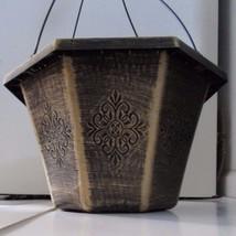 "Set of 5 - 13"" BRONZE TIFFANY OCTAGON HANGING BASKETS plastic flower pot... - $28.32 CAD"