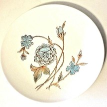 "Anchor Hocking White With Blue Floral Design 10.5"" Dinner Plate Dish Iro... - $12.38"
