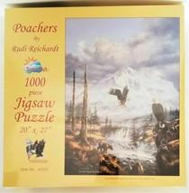 """SunsOut Jigsaw Puzzle Rudi Reichardt """"Poachers"""" 1000 Pieces"""