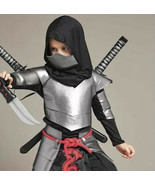 Chasing Fireflies Ninja Halloween Costume Kids Youth Boys 8 Silver Samur... - $18.80