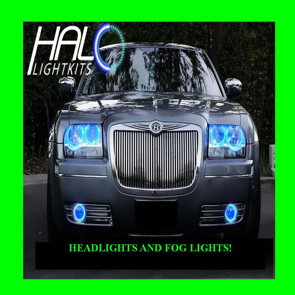 Primary image for 2005-2010 CHRYSLER 300 BLUE LED HEADLIGHT+FOG HALO KIT 6 RINGS by ORACLE