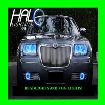 2005-2010 Chrysler 300 Blue Led Headlight+Fog Halo Kit 6 Rings By Oracle - $297.99