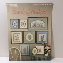 Earth Awakens Bk 1 Cross Stitch Pattern Book Mary Vincent Betrand Flowers - $9.74