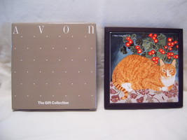 Avon Gift Collection Purrfect Friends ceramic tile Marmalade - $9.95