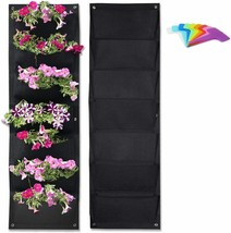 Vertical Garden Hanging Pocket Wall Planters 2 Pack with Bonus Plant Tags image 1