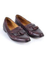 Johnston Murphy Cellini Brown Leather Wingtip Tassel Loafer Dress Shoes ... - $39.59