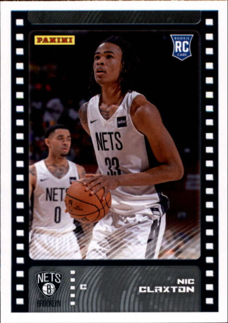 Primary image for 2019-20 Panini NBA Sticker Box Standard Size Insert #100 Nic Claxton Brooklyn Ne