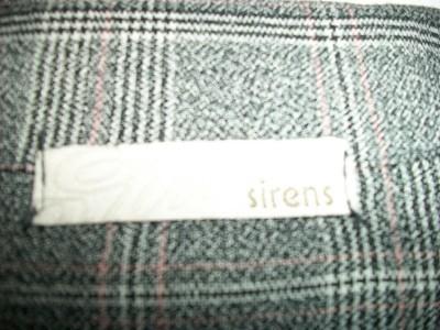 SIRENS BLACK GREY WHITE PLAID DRESS CAREER JACKET SMALL LONG SLEEVES