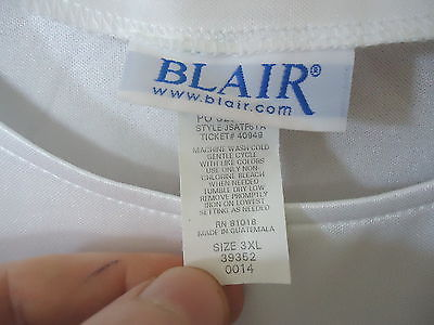 0b231ef7e2a01a Womens Blair Size 3 Xl White Short Sleeve and 50 similar items
