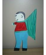 LoVely R. A. Miller ~ FOLK ART Figural MALE Tin ANGEL!! - $150.00