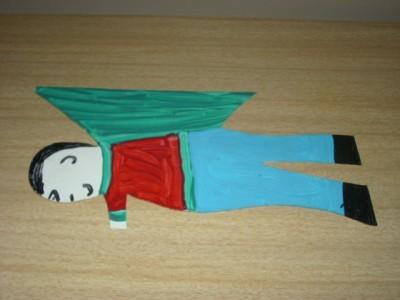 LoVely R. A. Miller ~ FOLK ART Figural MALE Tin ANGEL!!